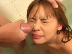 Small boob Asian hairy pussy felt out!