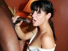 Arianna Cock sucking Off Black Dicks