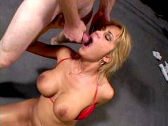 Trina Cock juice Hosed Blonde