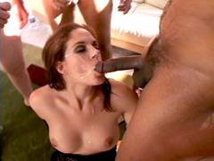 Cock juice Greedy Crissy Facial