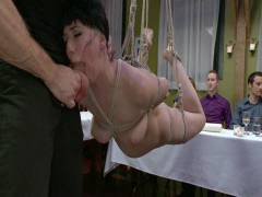 Public Disgrace: Nerine Mechanique Served Up And Fucked At A Dinner Soiree