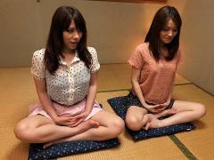 Anna Kirishima and Kana Suzuki ramed at yoga
