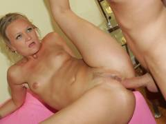 See erotic mature Katie Gold manhole stuffed