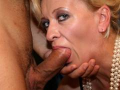 MILF teaches young couple to nail hard