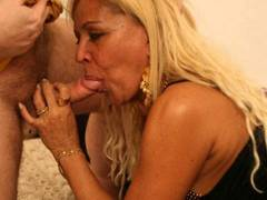 Curvy blonde MILF gets some end-to-end hammering