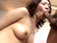 Horny hairy snatch Japanese hammered hard!