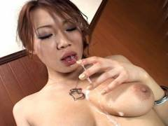 Misaki Asou best sloppy and messy fellatio!